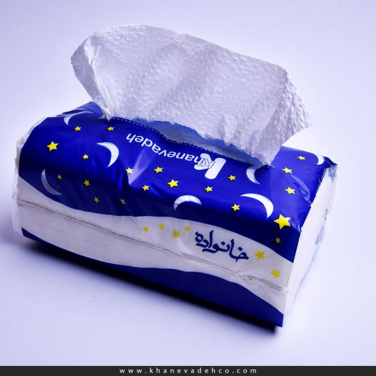 Khanevadeh 200 Economical Facial Tissue - Moon and Star Design